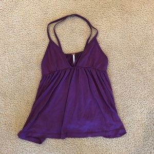 Free People Purple Spaghetti Strap Top (Small)